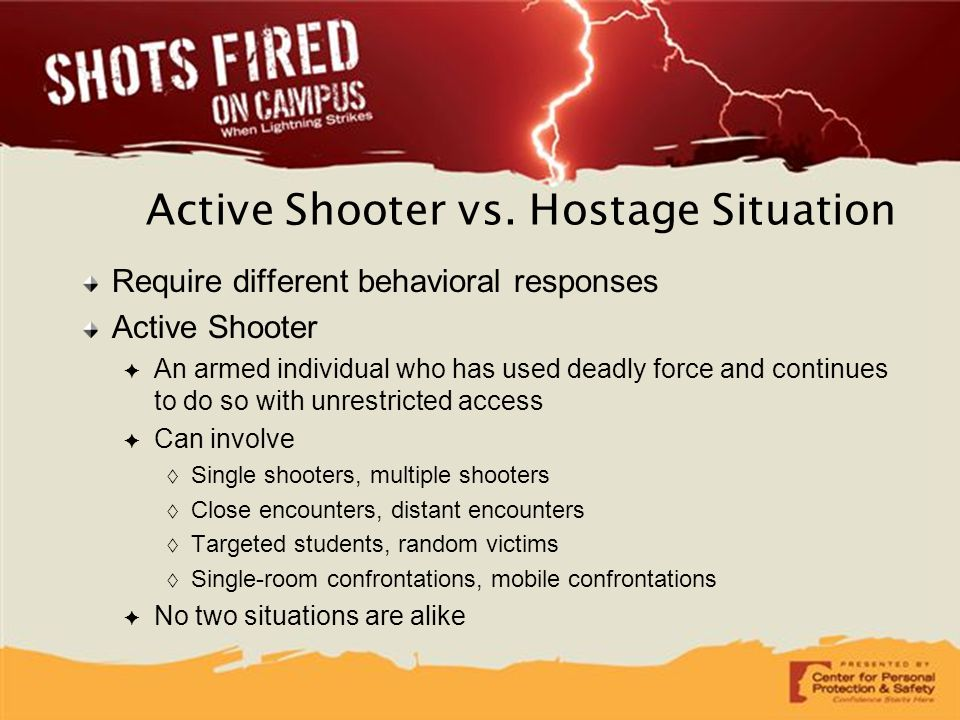 Active Shooter vs. Hostage Situation