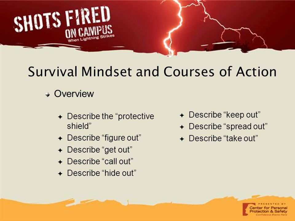 Survival Mindset and Courses of Action
