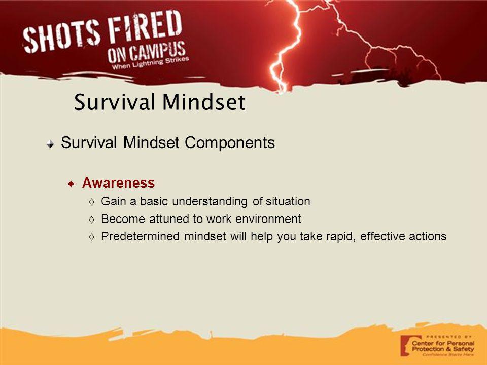 Survival Mindset Survival Mindset Components Awareness