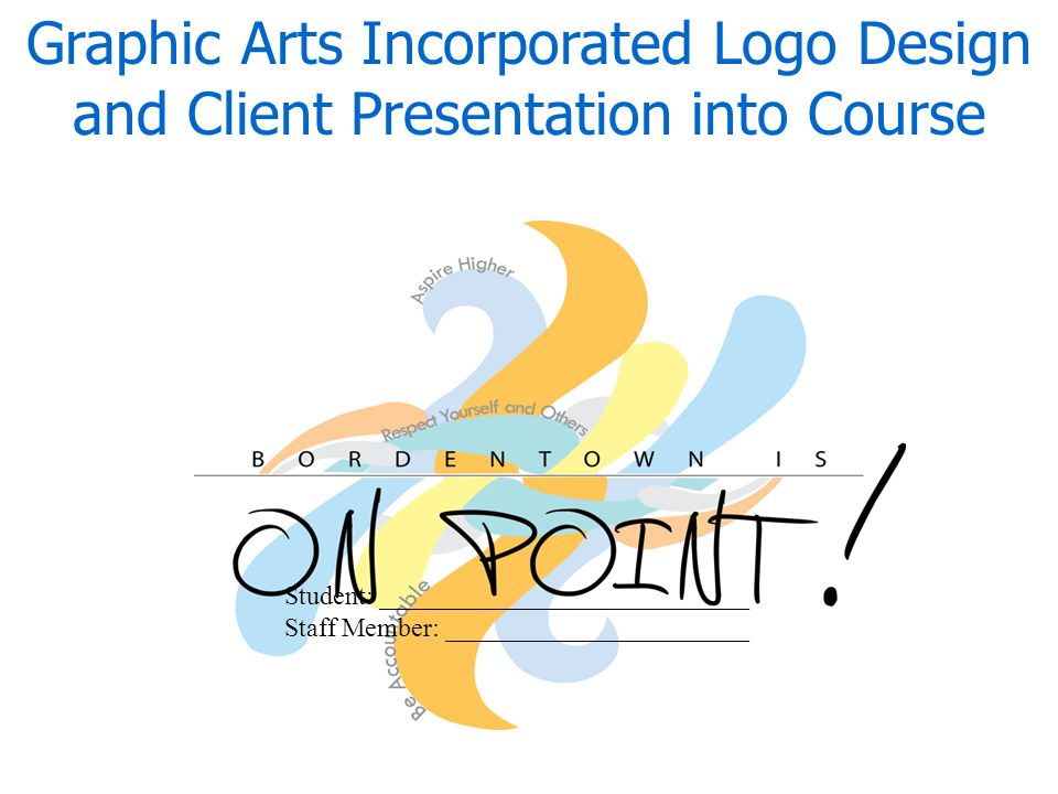 Graphic Arts Incorporated Logo Design and Client Presentation into Course