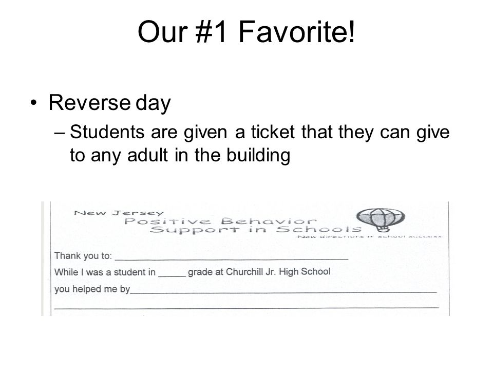 Our #1 Favorite! Reverse day
