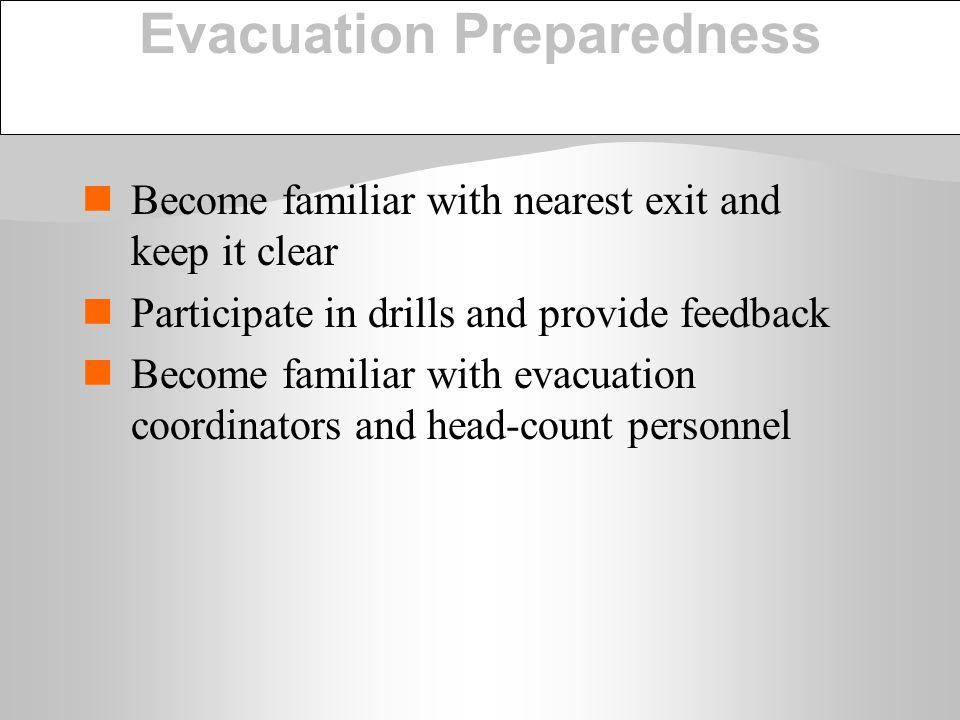 Evacuation Preparedness