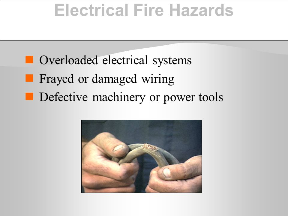 Electrical Fire Hazards