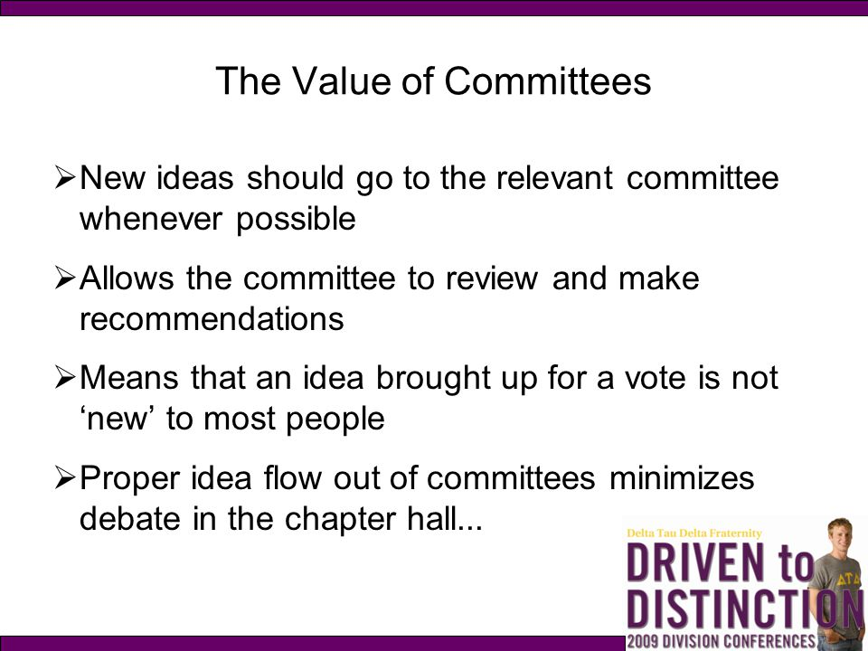 The Value of Committees