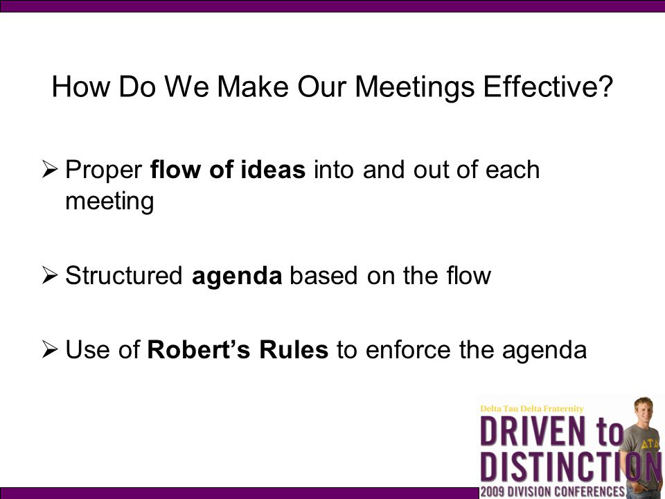 How Do We Make Our Meetings Effective