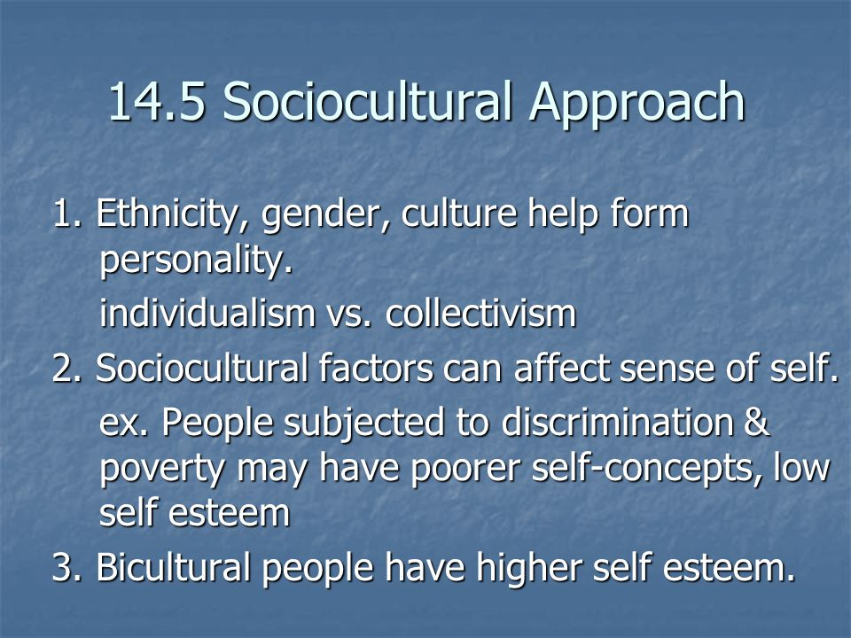 14.5 Sociocultural Approach