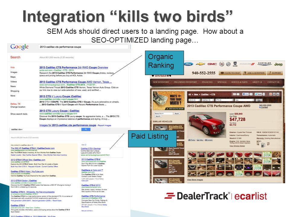 Integration kills two birds