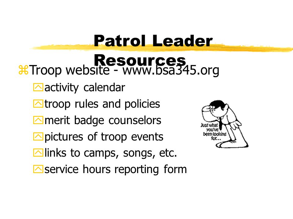 Patrol Leader Resources