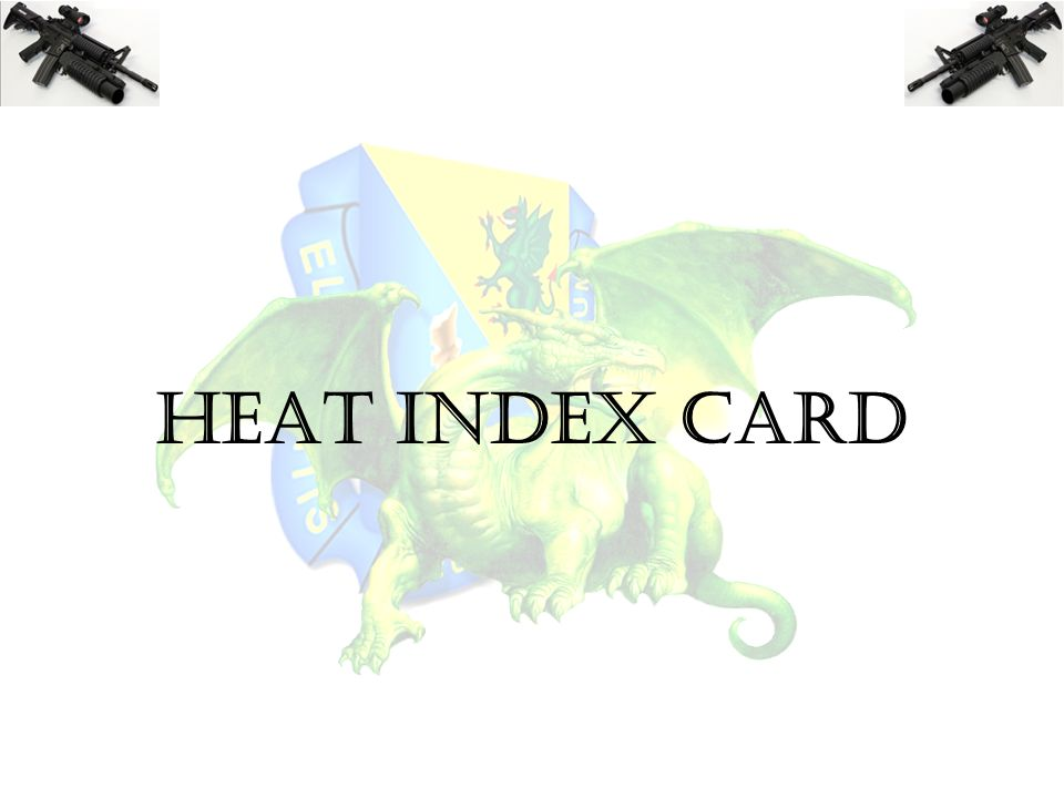 HEAT INDEX CARD
