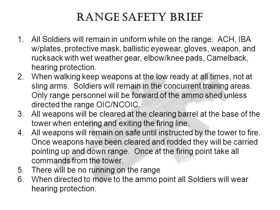 Range safety brief