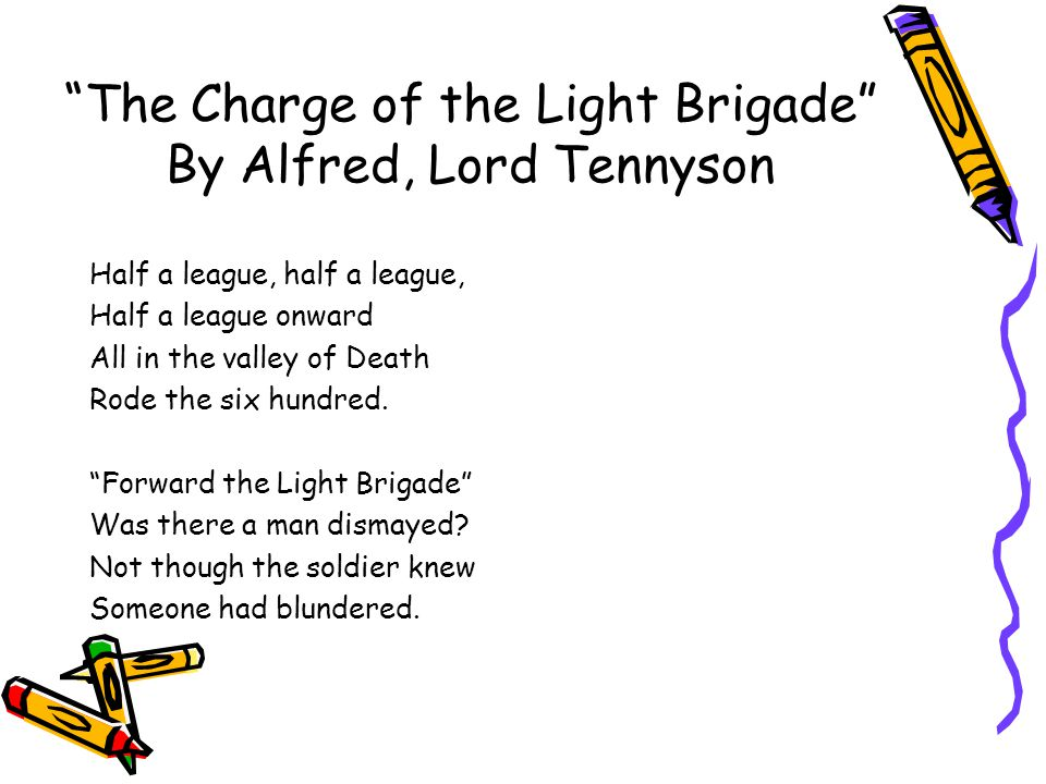 The Charge of the Light Brigade By Alfred, Lord Tennyson