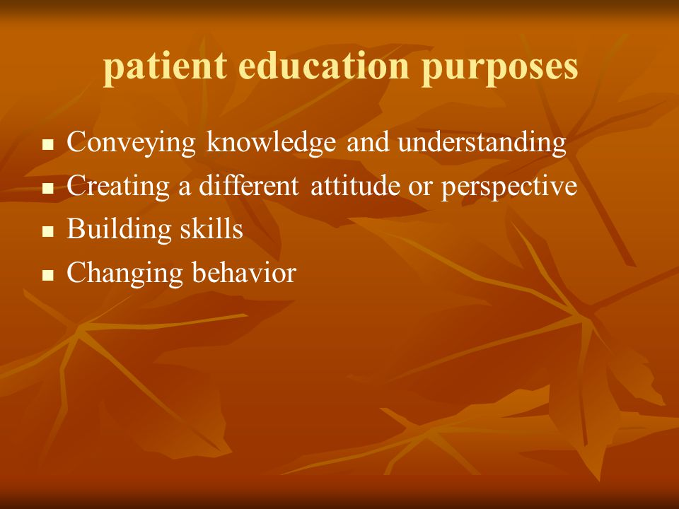 patient education purposes