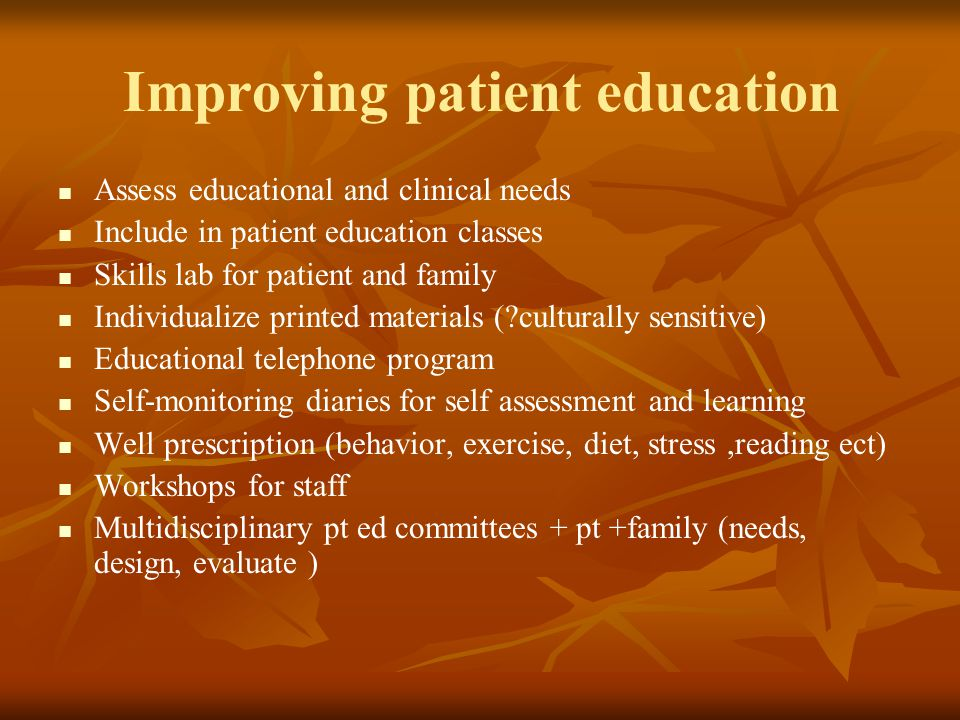Improving patient education