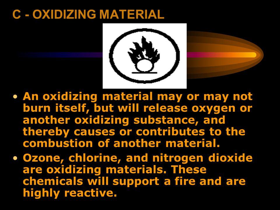 C - OXIDIZING MATERIAL