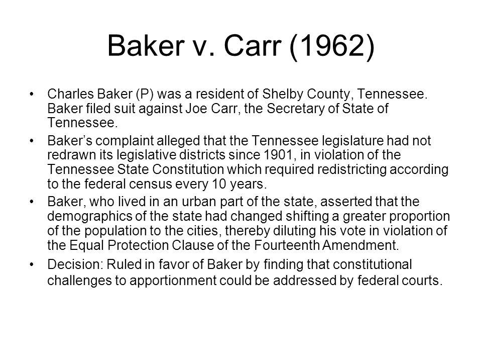 Baker v. Carr (1962)