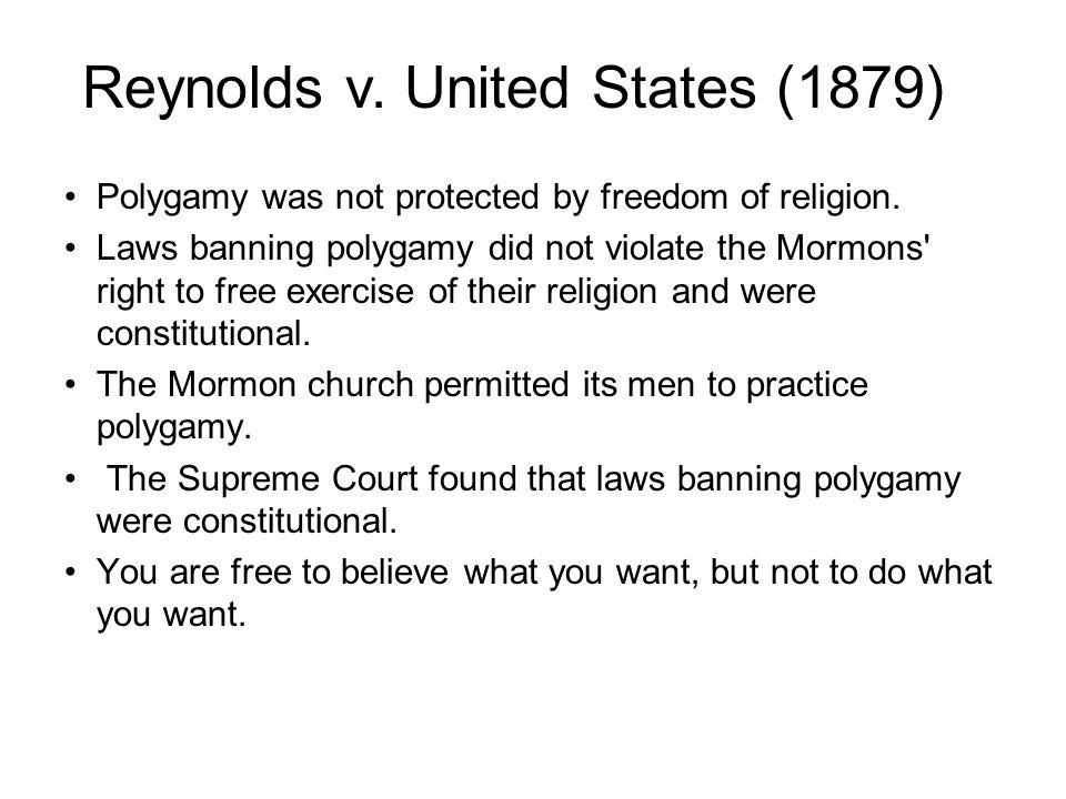 Reynolds v. United States (1879)