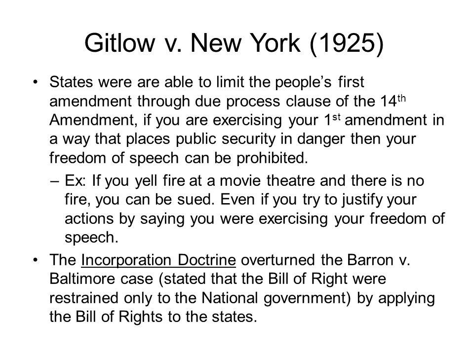 Gitlow v. New York (1925)