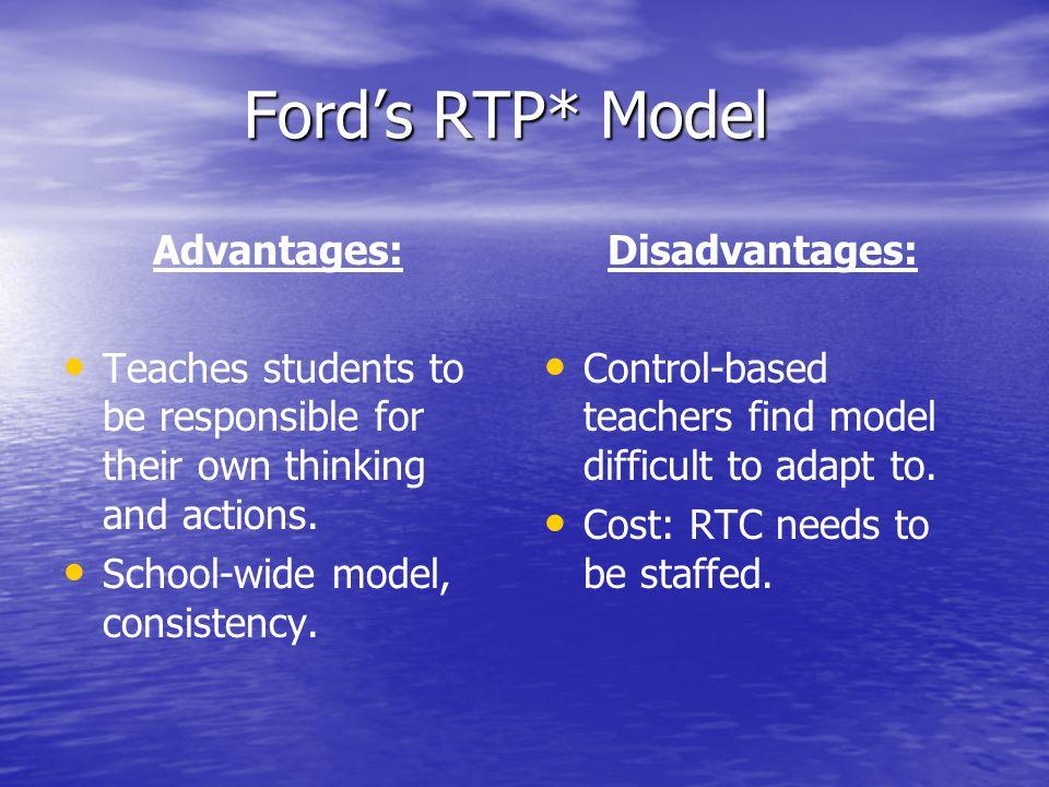 Ford's RTP* Model Advantages: