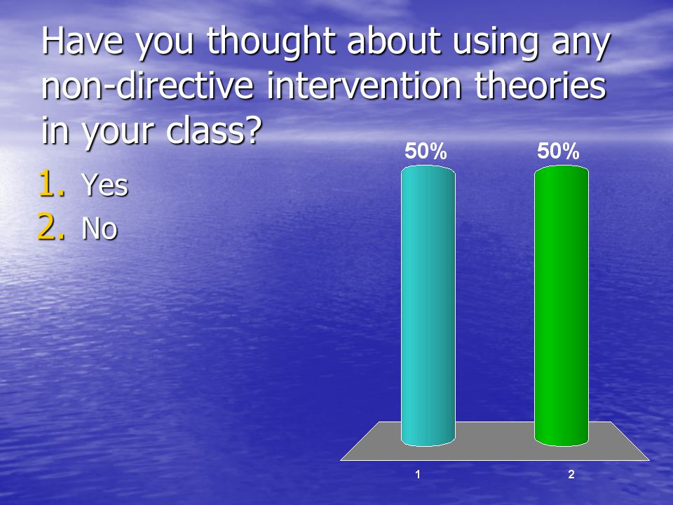 Have you thought about using any non-directive intervention theories in your class
