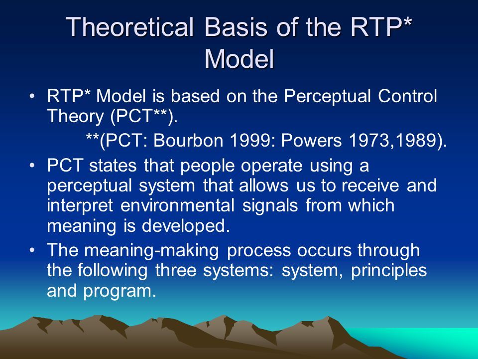 Theoretical Basis of the RTP* Model