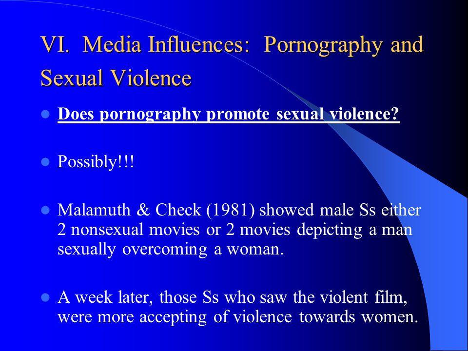 VI. Media Influences: Pornography and Sexual Violence