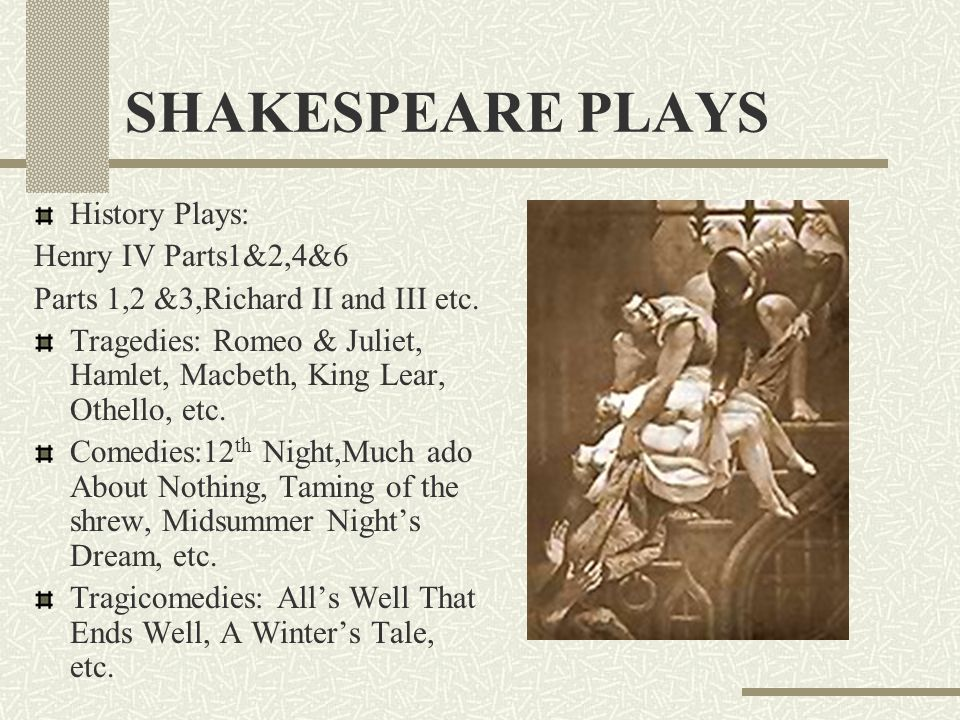 the history plays of shakespeare essay The role of women has changed since the time in which shakespeare's historic plays were written regardless of the change in roles, looking at the role of.