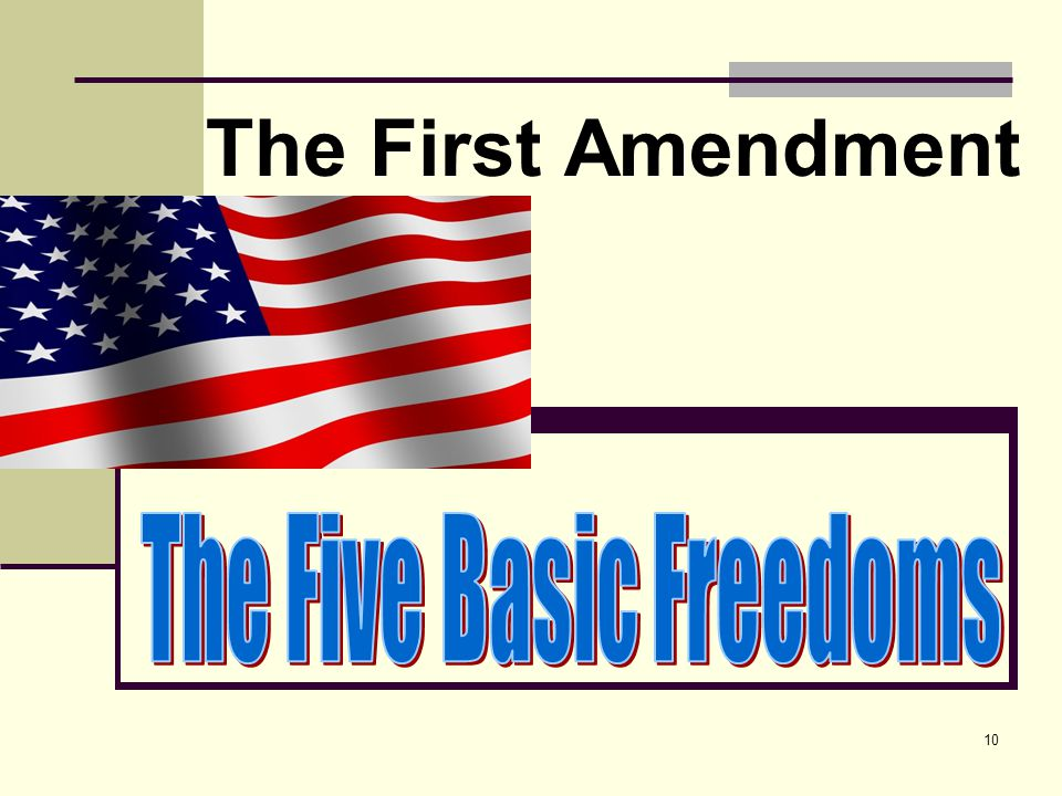 The Five Basic Freedoms