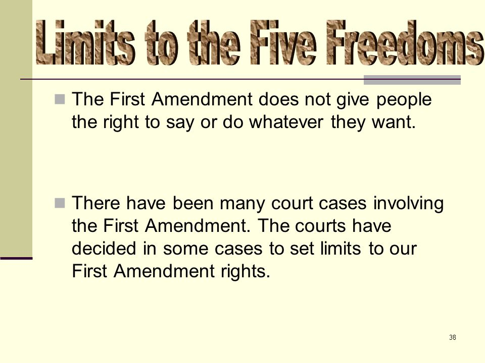 The First Amendment and Limits on American Freedom of Speech