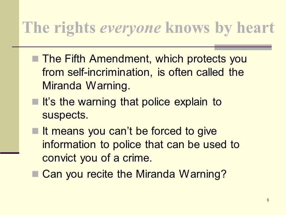 The rights everyone knows by heart