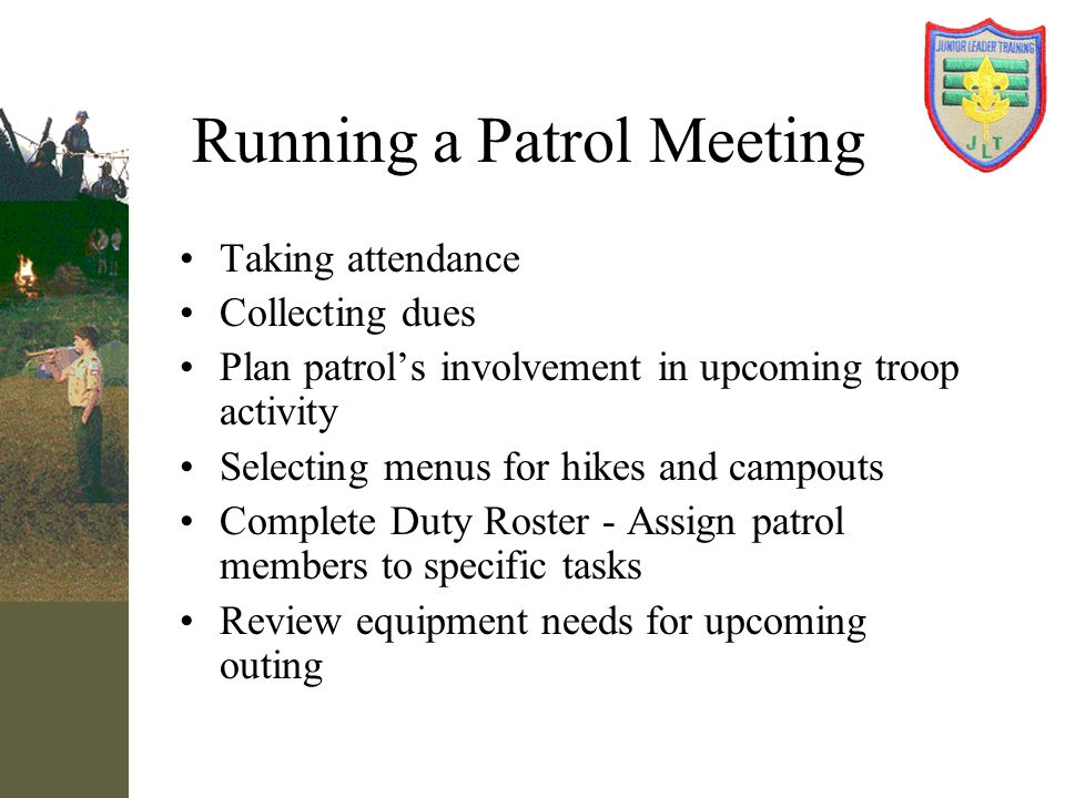 Running a Patrol Meeting