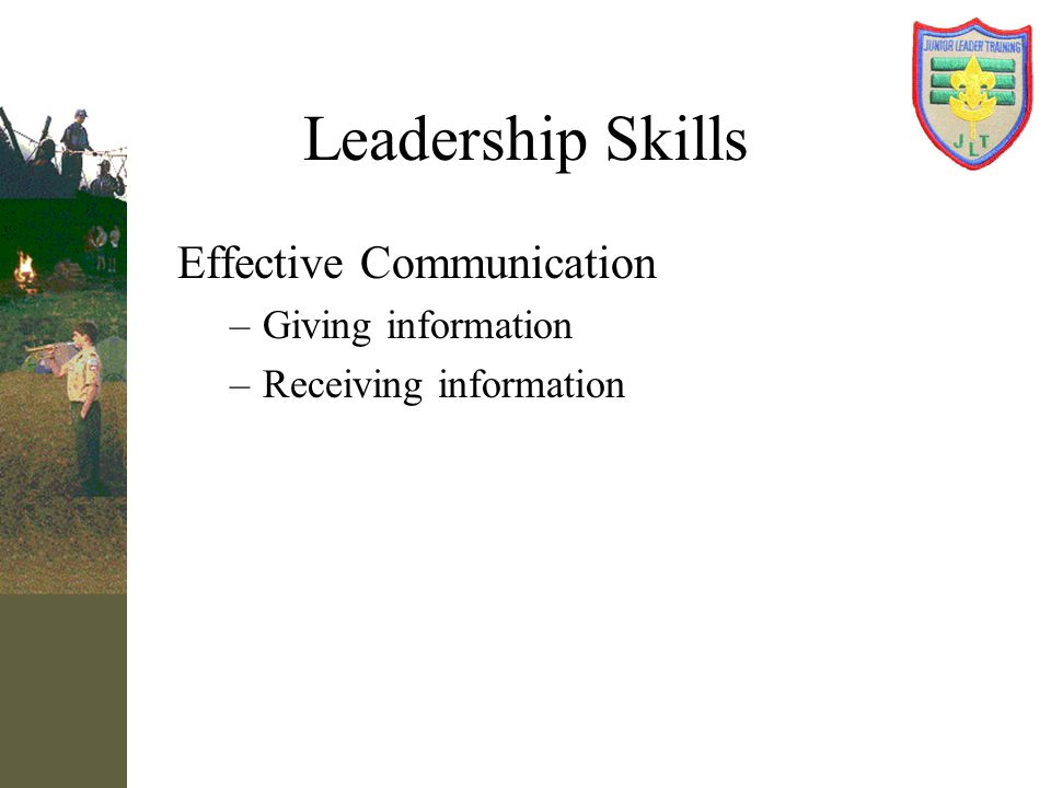 Leadership Skills Effective Communication Giving information