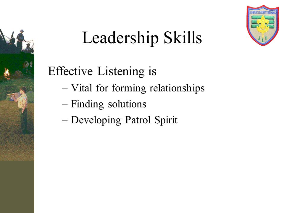 Leadership Skills Effective Listening is