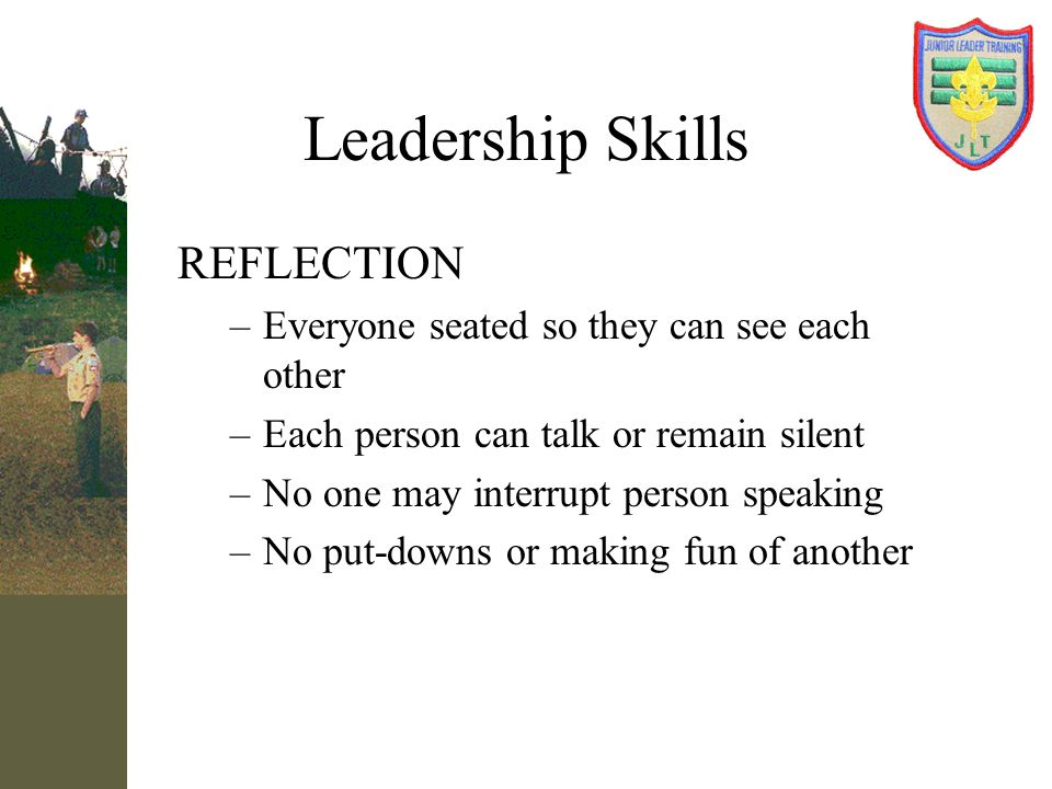 Leadership Skills REFLECTION