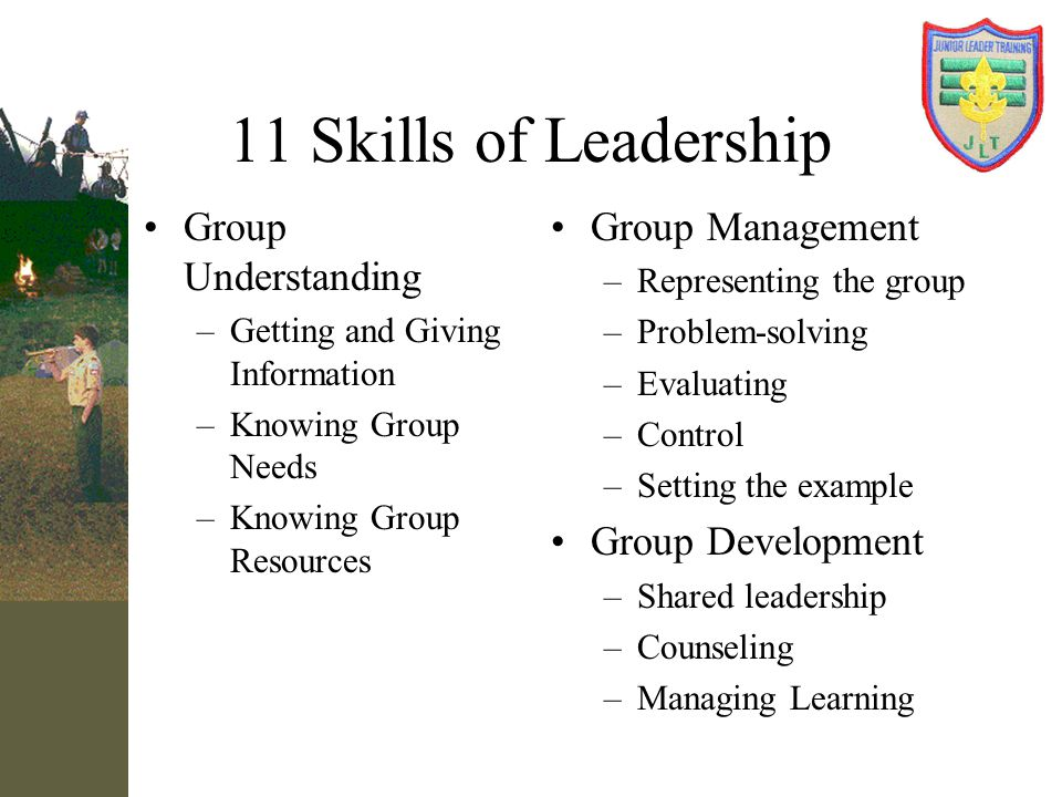 11 Skills of Leadership Group Understanding Group Management