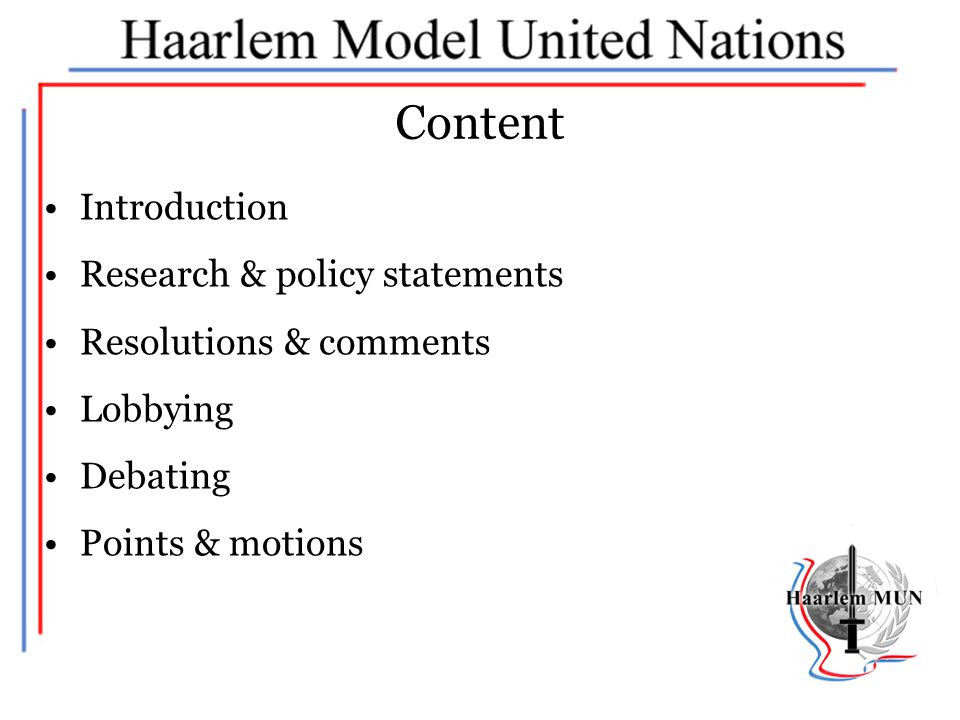 Content Introduction Research & policy statements