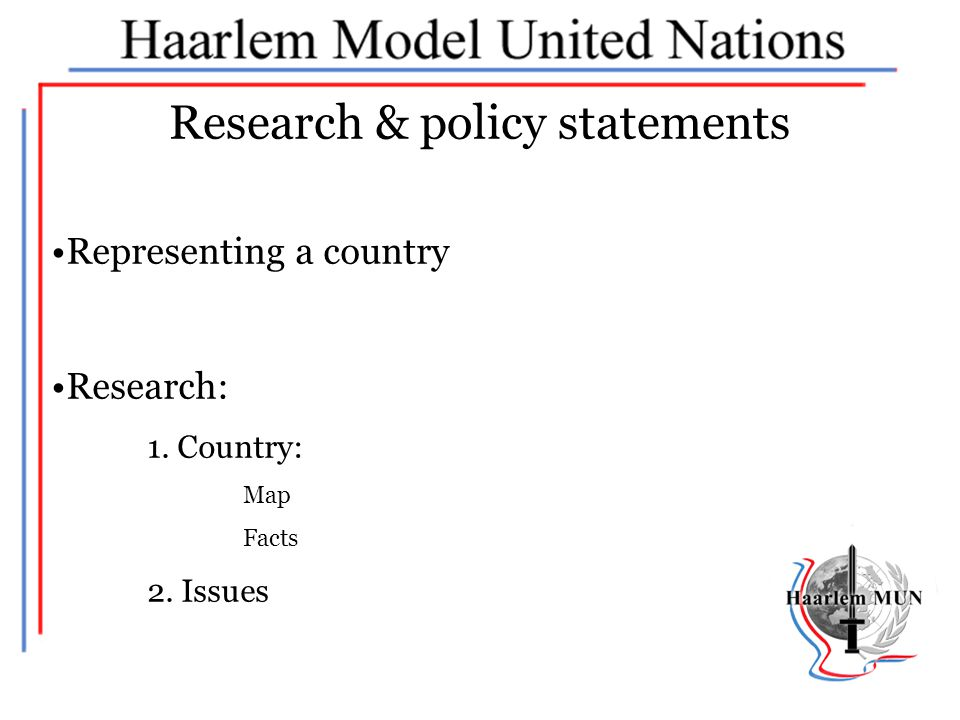 Research & policy statements