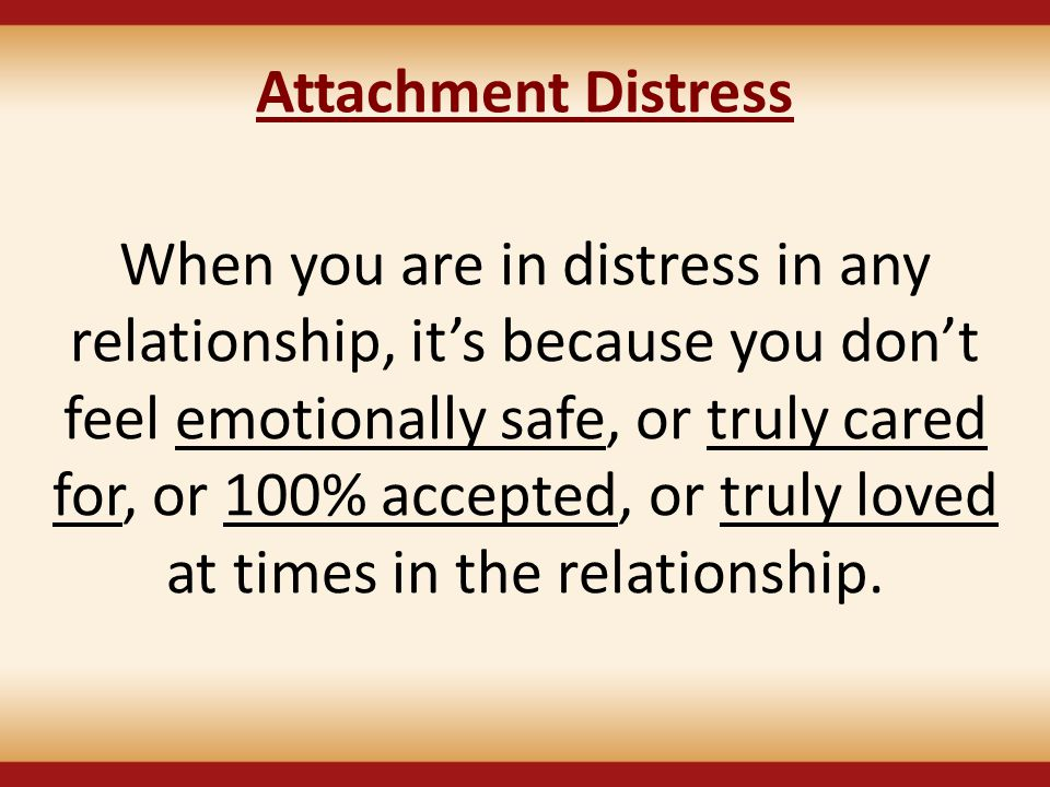 Attachment Distress