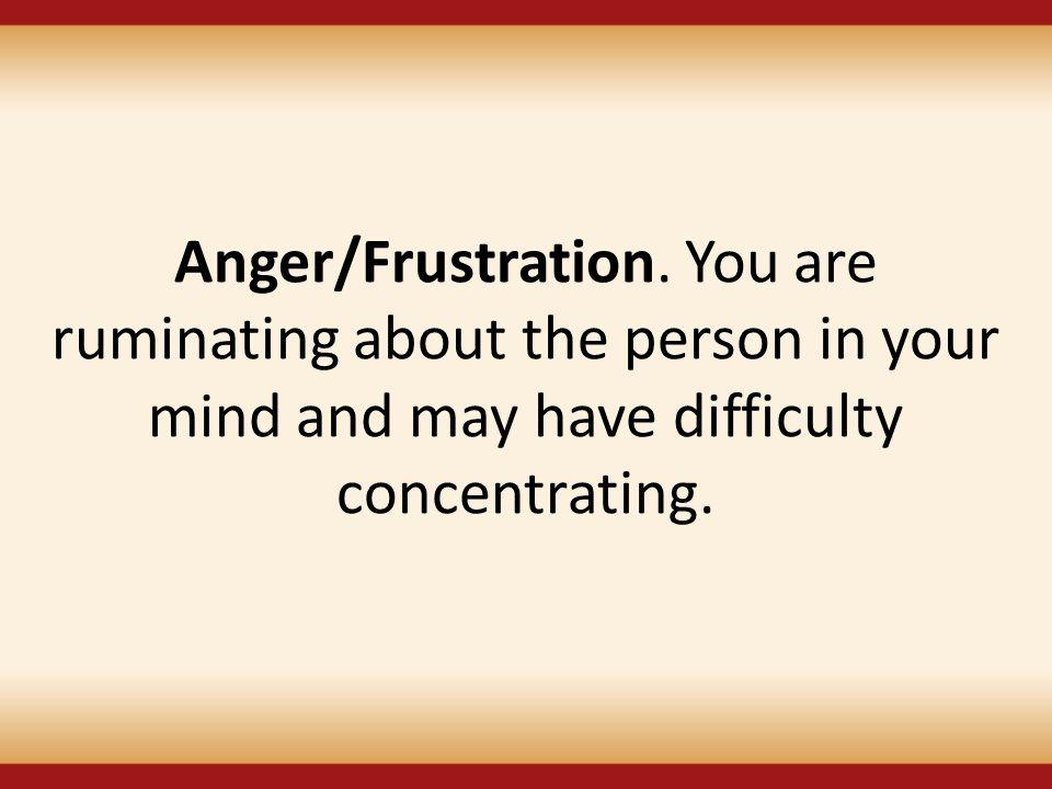 Anger/Frustration.