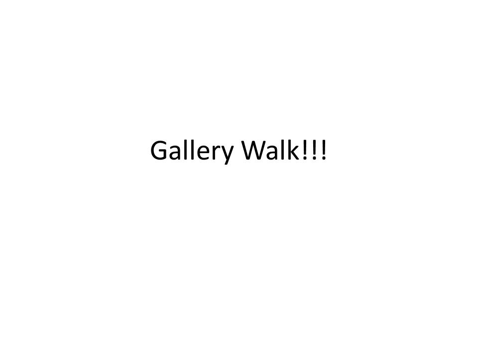 Gallery Walk!!!