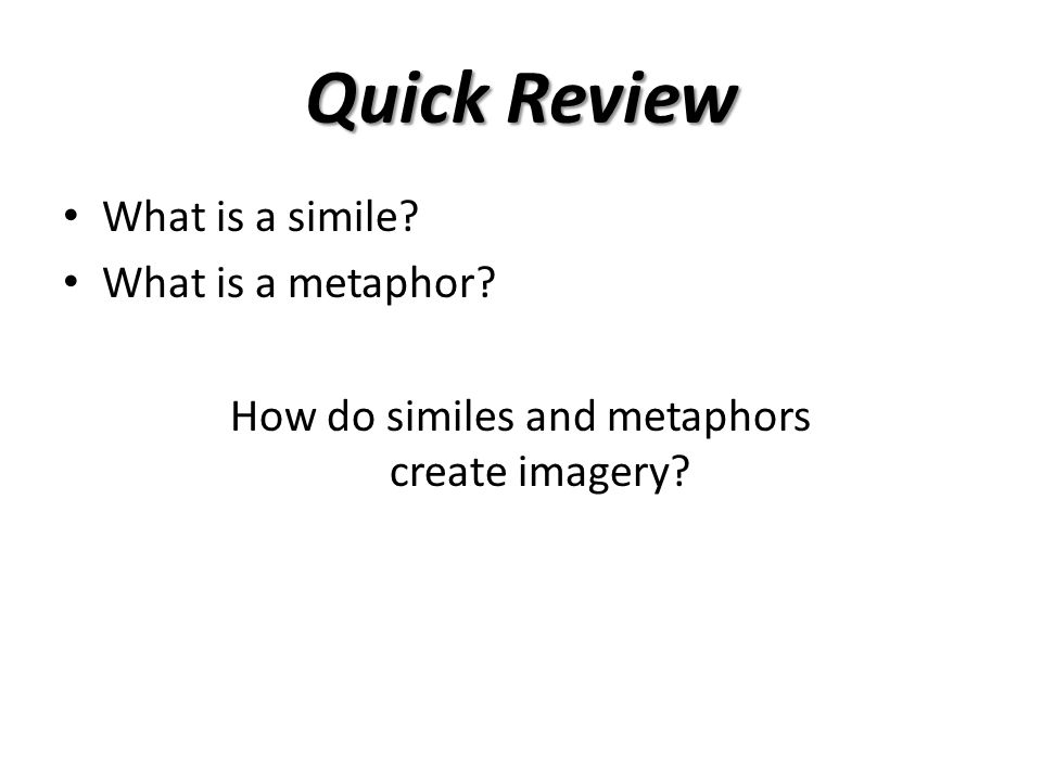 How do similes and metaphors create imagery