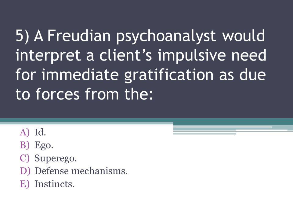 Id. Ego. Superego. Defense mechanisms. Instincts.