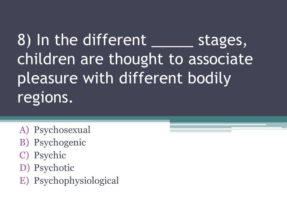 Psychosexual Psychogenic Psychic Psychotic Psychophysiological