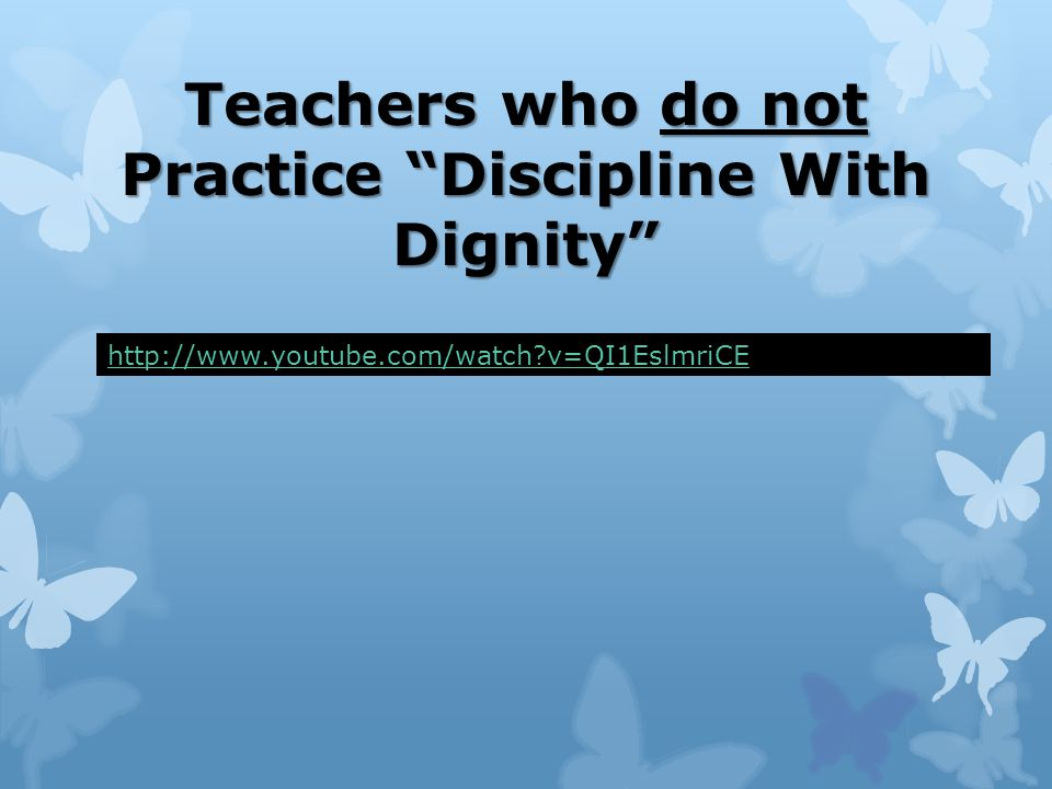 Discipline and punishment are not the same
