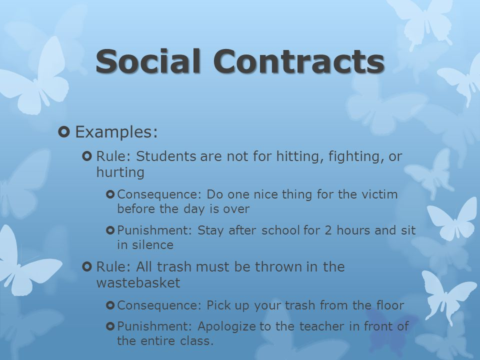 Social Contracts Examples: