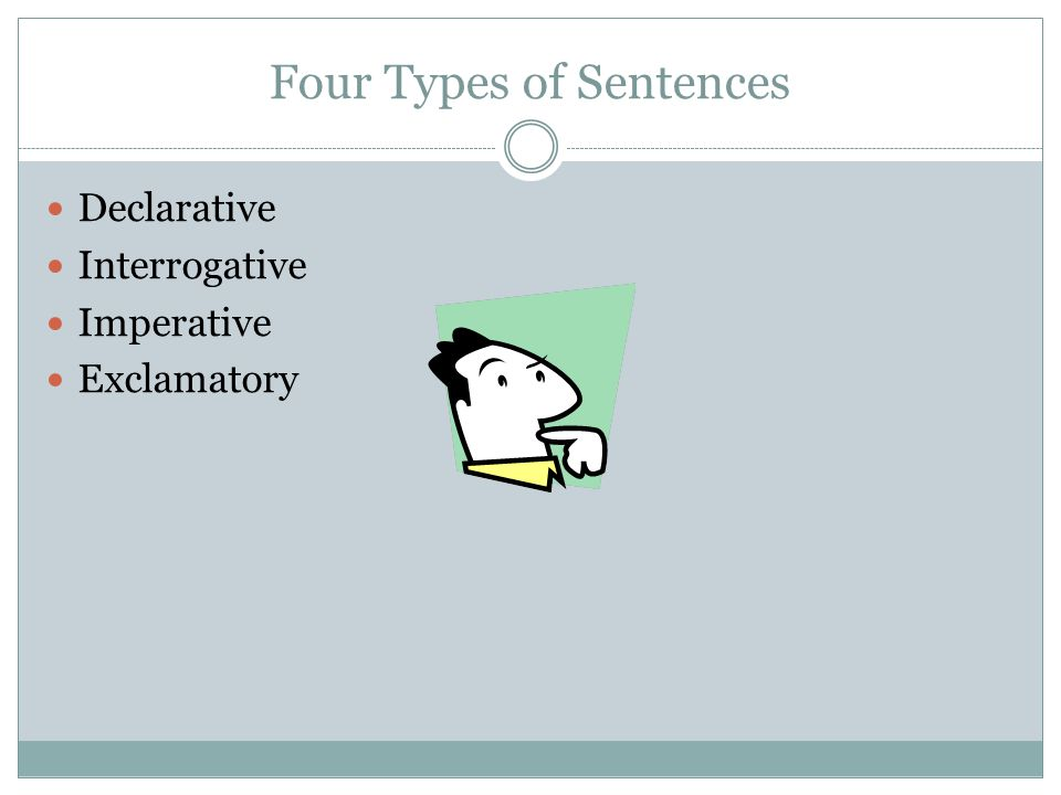 Four Types of Sentences