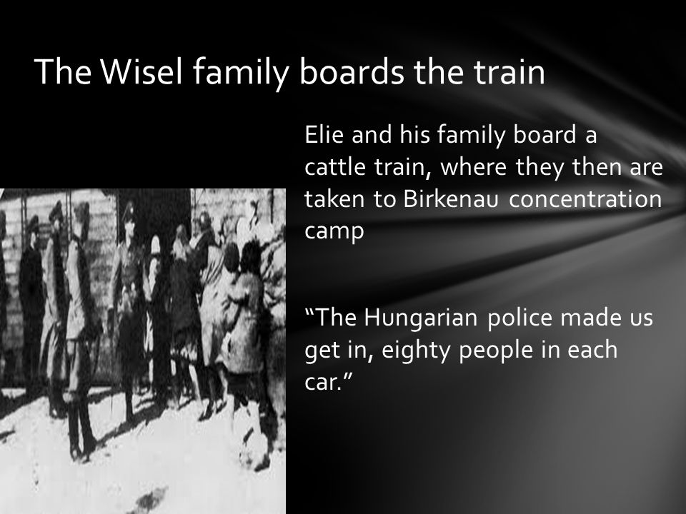 The Wisel family boards the train