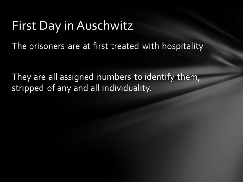 First Day in Auschwitz