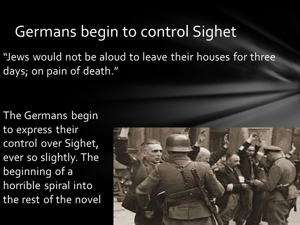 Germans begin to control Sighet