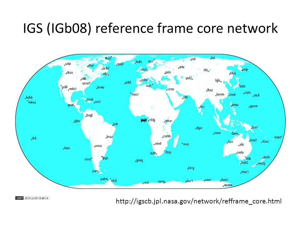 IGS (IGb08) reference frame core network