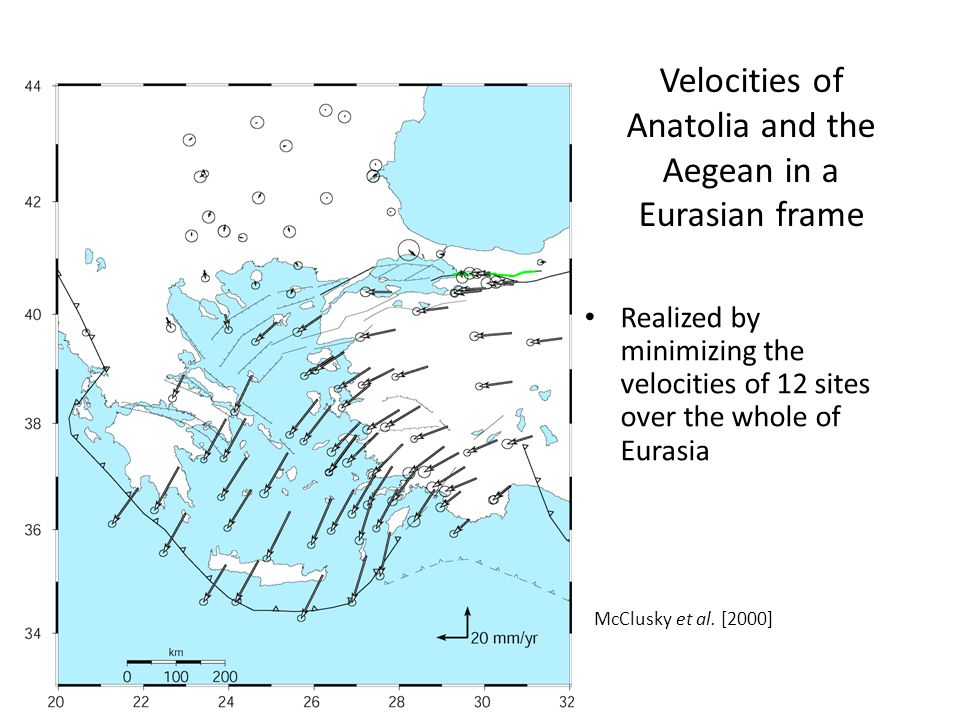 Velocities of Anatolia and the Aegean in a Eurasian frame